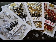 Holiday Card Series 2016 Hello 2017 shaker cards (fuse tool) - YouTube