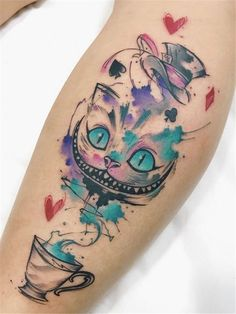 Felipe Bernardes > Alice in Wonderland to make temporary tattoo crafts ink tattoo tattoo diy tattoo stickers Trendy Tattoos, Unique Tattoos, Beautiful Tattoos, Small Tattoos, Colorful Tattoos, Feminine Tattoos, Disney Tattoos, Cartoon Tattoos, Diy Tattoo