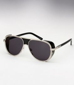 73fb567c42d Ksubi Cisco - Silver and Black Leather Sunglasses Trending Sunglasses