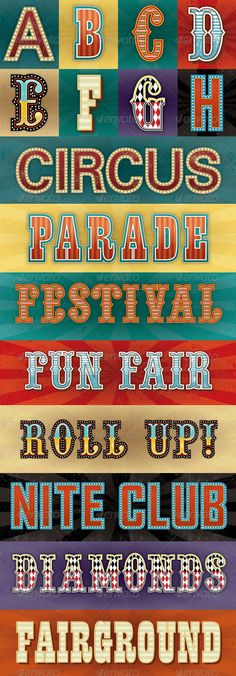 Circus Text Styles on Behance