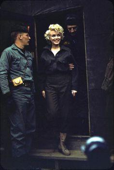 magic-bazaar:  Marilyn in Korea by Robert H.McKinley, February 1954.