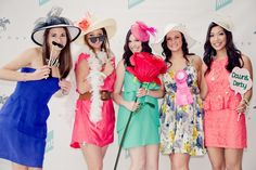 A Kentucky Derby Bridal Shower Theme...Love the idea of this! The dresses the hats! LOVE!
