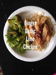 Super easy recipe here, but oh my gosh! FLAVOR EXPLOSION!Here's what you need:3 Chicken Breasts2 LimesFresh Ginger (powdered is fine too, but not as good)2 Cloves Garlic, finely mincedCut your chic...
