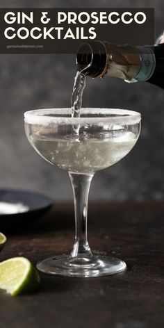 Everyone loves bubbles and a signature cocktail makes any party special. Add some cheer to your holiday party menu with this mouthwatering Elderflower, Gin & Prosecco Cocktail! One sip and you will… More Gin Martini Recipe, Martini Recipes, Drinks Alcohol Recipes, Non Alcoholic Drinks, Cocktail Recipes, Drink Recipes, Gin And Prosecco Cocktail, Signature Cocktail, Fruity Drinks