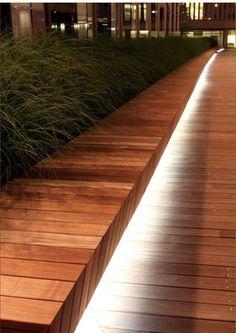 Image result for lighting timber deck
