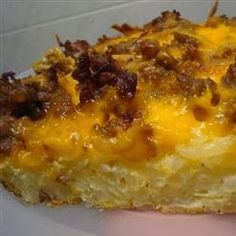 Hash Brown and Egg Casserole - This casserole is a nice and cozy breakfast or brunch meal that everyone will enjoy. It's got the perfect taste with lots of cheese