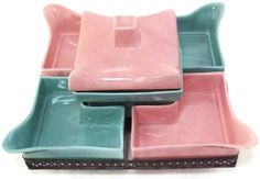 Vintage California Pottery Pink and Aqua Revolving by take2vintage, $85.00