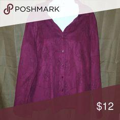 Sag Harbor xl button down Has a suede like feel Sag Harbor Tops Button Down Shirts