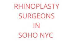 Rhinoplasty in soho nyc