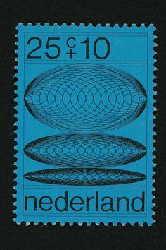 Postzegel Nederland 1970, Zomerpostzegel Overgangsfasen van concentrische cirkels met oplopende diameter