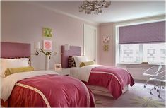 Great room ideas for teenage girls using twin beds,Teen bedroom with two twin beds,Interior design two twin beds,Teenage twin girl room ideas,Decoration ideas for a two twin beds picture Twin Girl Bedrooms, Girls Bedroom Sets, Little Girl Rooms, Twin Girls, Kids Bedroom, Luxury Homes Interior, Room Interior, Interior Design, Two Twin Beds