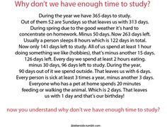 Why Don't We Have Enough Time To Study