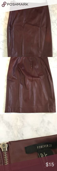 Forever 21 Faux Leather Skirt! Forever 21 Faux Leather Skirt! Forever 21 Skirts Pencil