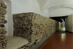 Tratto di mura romane. Museo Egizio. © Soprintendenza per i Beni Archeologici del Piemonte e del Museo Antichità Egizie. #torino #arteromana