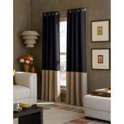 Image 2 of 2 colorblock curtains navy khaki walmart half the price of Kohl's