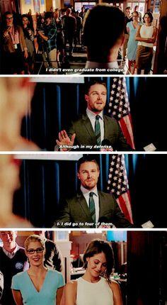 #Arrow - Oliver, Felicity & Thea #Season4 #4x04