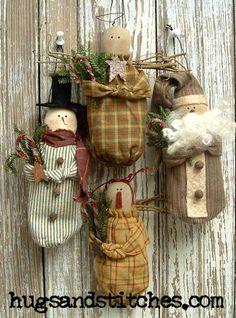 123 patrón de ornamento de invierno por HugsAndStitchesPrims