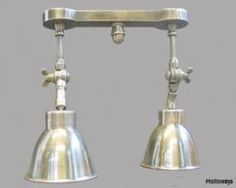 Twin pewter spotlight, Industrial wall lights, Industrial lighting, Classic and period lighting, Holloways of Ludlow