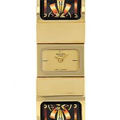 Montre Hermes Loquet en plaqué or Vers 2000