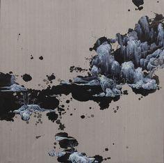 Li Yuming, Fragmented Shan-Shui, Oil and acrylic on canvas, 150x150cm, 2015