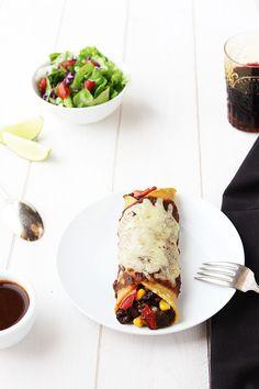 Homemade Black Bean and Vegetable Enchiladas - recipe at cali-zona.com