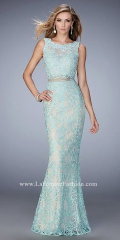 Illusion Two Piece Lace Prom Dress by La Femme #edressme