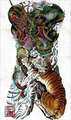 Getting The Best Dragon Tattoos – Japanese Dragon Tattoo Meanings Dragon Tattoo Japanese Style, Japanese Dragon Tattoo Meaning, Japanese Tattoo Designs, Japanese Tattoo Art, Yakuza Style Tattoo, Irezumi Tattoos, Tiger Design, Life Tattoos, Body Art Tattoos