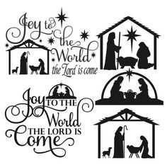 Christmas Joy to the World Pack Cuttable Design Cut File. Christmas Vinyl, Christmas Words, Christmas Nativity, Christmas Pictures, Christmas Projects, Christmas Quotes, Christmas Plaques, Nativity Ornaments, Nativity Scenes