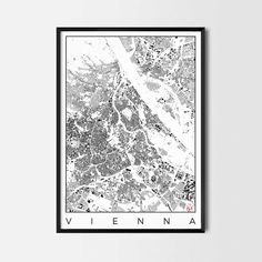 Vienna city map art Poster - Art posters and map prints of your favorite city. Unique design of a map. Perfect for your house and office or as a gift.