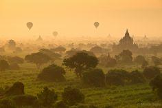"Bagan, Myanmar (Burma)   ""Bagan Balloons ~ Myanmar (Burma)"" by Martin Sojka, via 500px."