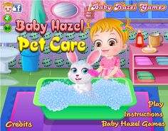Baby Hazel has a new member in her pet family, a rabbit whom she named Honey Bunny. Help Hazel in taking care of this cute little pet. http://www.babyhazelgames.com/games/baby-hazel-pet-care.html