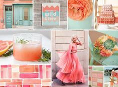 coral and mint wedding inspiration