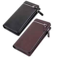 2017 Men Fashion Long Zipper Bag Man Leather Purse Gentleman Tote Bussiness Wallet  LT88 #Affiliate