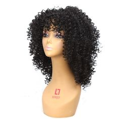 Medium Long Afro Kinky Curly Wig Synthetic  RRP £38 #Unbranded #CurlyHair