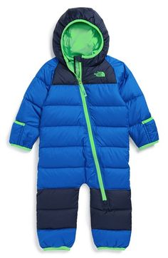 The North Face 'Lil Snuggler' Water Resistant Down Snowsuit (Baby Boys) available at #Nordstrom