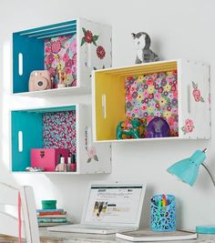Do it yourself tumblr dy pinterest nice room and organizing crate shelf with fabric back and painted sides diy organization diy wooden solutioingenieria Gallery