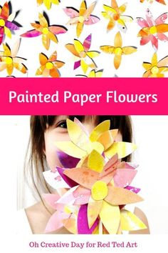 Painted Paper Flower