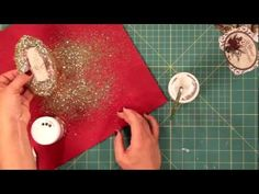 How to make #holiday #vintage decoupage #ornaments