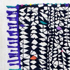 Bo Hamsa--a new carpet company from Germany. The fringe is an illusion woven into the carpet itself. (bohamsa.com)