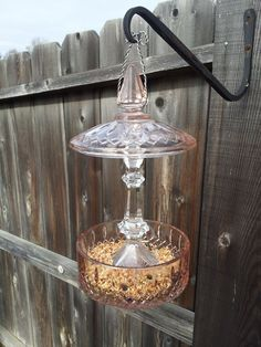 Hey, I found this really awesome Etsy listing at https://www.etsy.com/listing/173573447/pink-rose-and-clear-glass-hanging-bird
