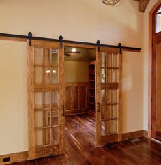 Craftsman Style Home - Closet...love those doors!
