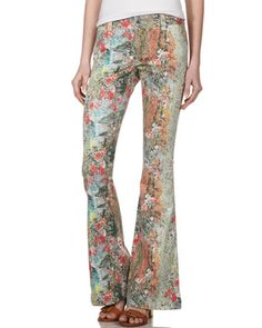 Printed Flared Jeans by Alice + Olivia for all you flare fans. Perfect size flair 8' inch leg opening - flare without the bell!