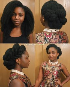 15 Stunning Versatile Updo Hairstyles On 4c Natural Hair – LUSHFRO