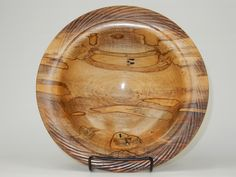 Karl Stauber splayed Ambrosia Maple 2 X 10 Wooden Platters, Woodturning Ideas, Turned Wood, Project Ideas, Projects, Candle Wall Sconces, Wood Lathe, Wood Bowls, Wood Turning