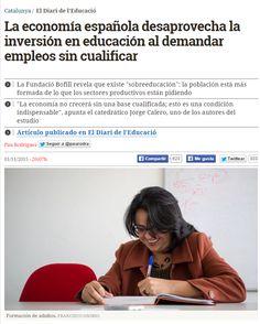La economía española desaprovecha la inversión en educación / @catalunyaplural | #readytowork #universidadencrisis
