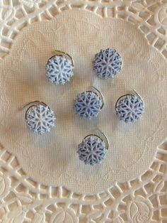 Click on the link below to see lots of designs and colors. www.hairswirls1.com  These hair #Accessories are perfect for #Bridesmaids, #iceskaters, or any little girl wanting to put something special in her hair. Frozen Ice Blue Snowflake Hair Swirls in White by hairswirls1, $9.99 www.hairswirls.com