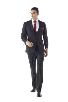 Custom Made Athletic Cut Mens Suit with U-Neck Vest by Ravis Custom Tailor
