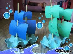 egg box pirate ships