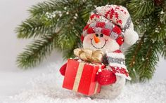 Merry Christmas Snowman Snow Noel Red Gif New Year