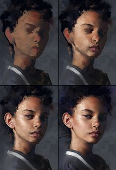 21 Digital Painting Process Pictures (Step-By-Step) - Paintable painting portrait step by step How To Paint These 21 Digital Portraits (Step-By-Step) Process Art, Painting Process, Painting & Drawing, Drawing Tips, Drawing Drawing, Matte Painting, Painting Abstract, Painting Classes, Gesture Drawing